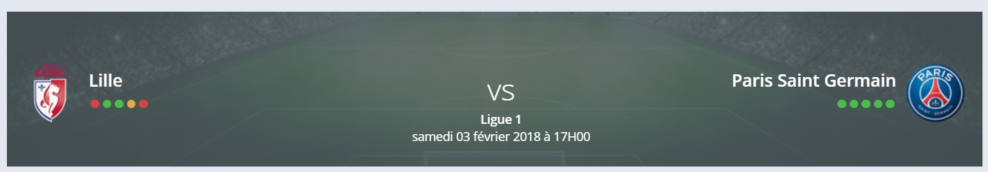 Pas de surprise sur le pronostic lille psg Ligue 1 !