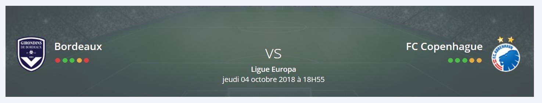 Quel prono feriez-vous pour Bordeaux – FC Copenhague en Ligue Europa ?
