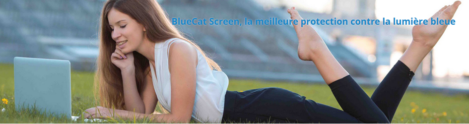 Filtre anti lumière bleue pour ordinateur BlueCatScreen : s'adapte à toutes les tailles